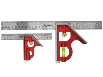 Combination Square Twin Pack 150mm (6in) & 300mm (12in)